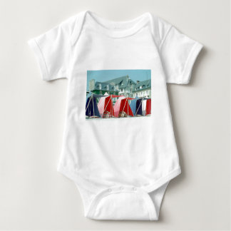 Tents on beach in Brittany, France Baby Bodysuit