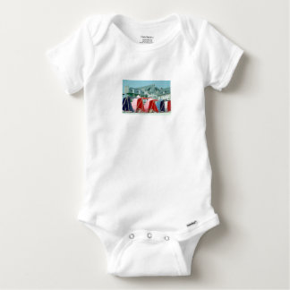 Tents on beach in Brittany, France Baby Onesie
