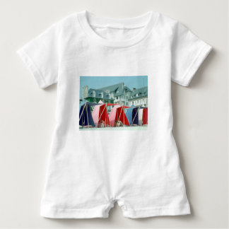 Tents on beach in Brittany, France Baby Romper