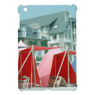 Tents on beach in Brittany, France Cover For The iPad Mini