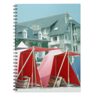 Tents on beach in Brittany, France Notebooks