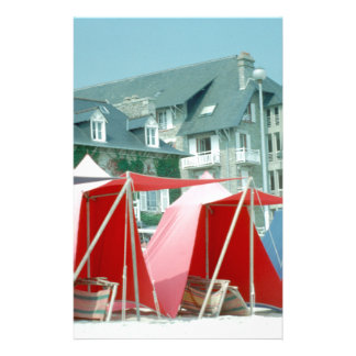 Tents on beach in Brittany, France Stationery