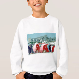 Tents on beach in Brittany, France Sweatshirt