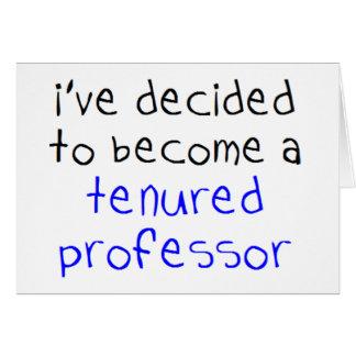 tenured professor card
