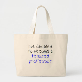 tenured professor large tote bag