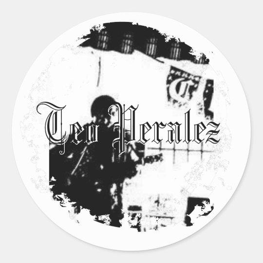 Teo Peralez - Distressed Round Stickers