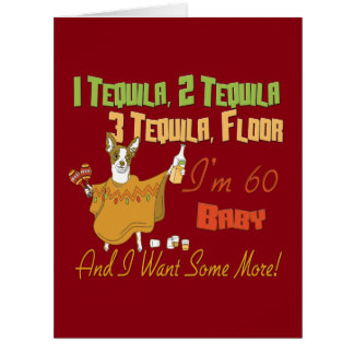 Tequila 60th Birthday Party Collection Big Greeting Card