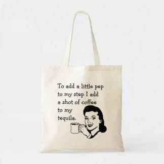 Tequila Coffee Pep Budget Tote Bag