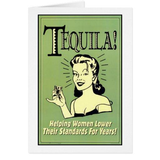 Tequila - femmes de aide plus bas leurs normes pou carte de vœux