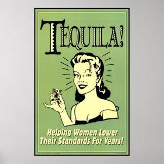 Tequila - femmes de aide plus bas leurs normes pou poster