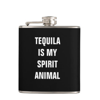 Tequila is my spirit animal hip flask