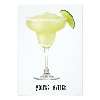 Tequila Lime Slushie 5x7 Paper Invitation Card