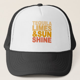 TEQUILA LIMES AND SUN SHINE M.png Trucker Hat