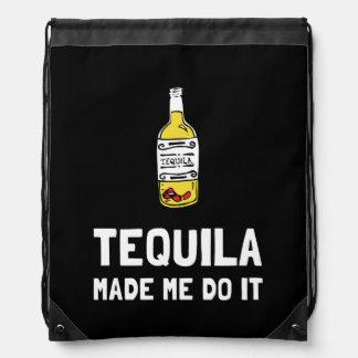 Tequila Made Me Do It Drawstring Bag