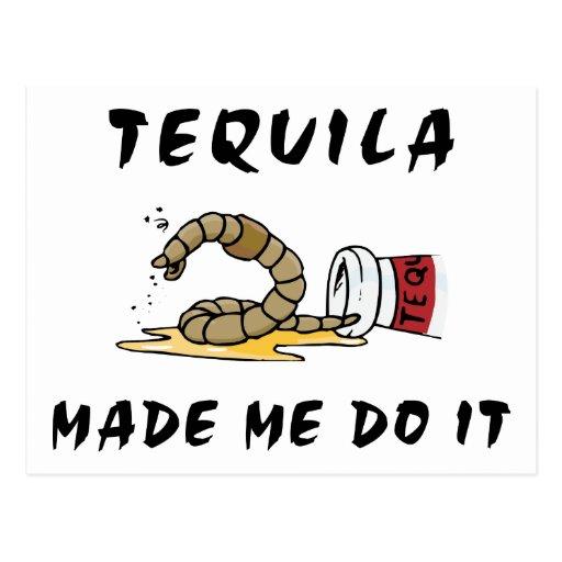 Tequila mexicaine drôle carte postale