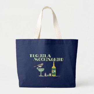 Tequila Mockingbird Large Tote Bag