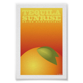 """Tequila Sunrise (4"""" x 6"""" Card) Poster"""