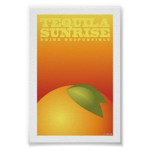 "Tequila Sunrise (4"" x 6"" Card) Posters"