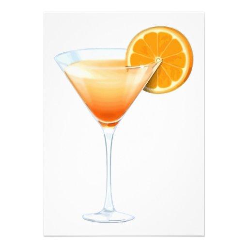 Tequila Sunrise Cocktail Custom Invitations