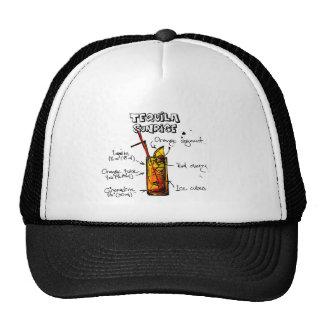 Tequila Sunrise Cocktail Recipe Trucker Hat