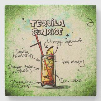 Tequila Sunrise Drink Recipe Stone Coaster