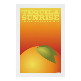 Tequila Sunrise (Large Archival Paper Poster) Poster