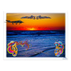 Tequila Sunrise Over Atlantic Big Beach Big Fun Postcard