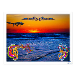Tequila Sunrise Over Atlantic Big Beach Big Fun Postcard