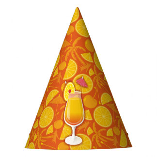 Tequila sunrise party hat