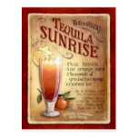 tequila sunrise recipe postcard