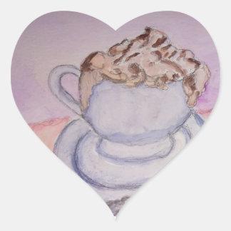 Teresa's Coffee Heart Sticker