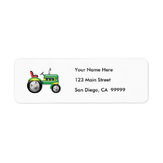 Teriffic Green Tractor Custom Return Address Label