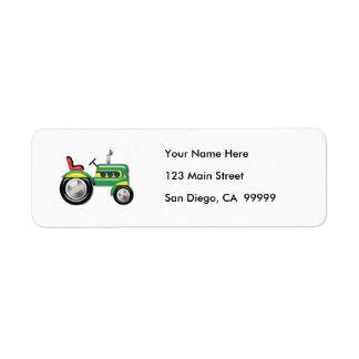 Teriffic Green Tractor Return Address Label