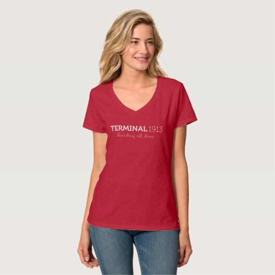 Terminal 1913 Red V-Neck Shirt