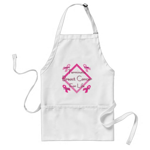 Terminate Breast Cancer For Life Aprons