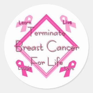 Terminate Breast Cancer Round Sticker