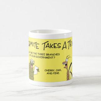 Termite takes a test coffee mug