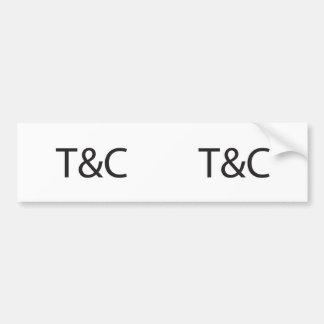 Terms Conditions ai Bumper Sticker