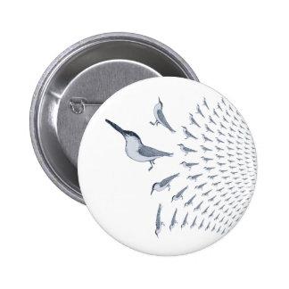 Tern Pattern Pin Button Badge
