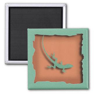 Terra Cotta Lizard Magnet
