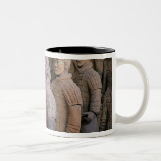 Terra Cotta warriors in Emperor Qin Shihuang's Two-Tone Coffee Mug
