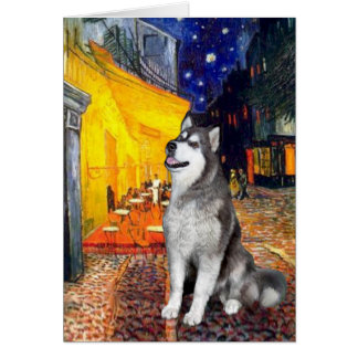 Terrace Cafe - Alaskan Malamute Card