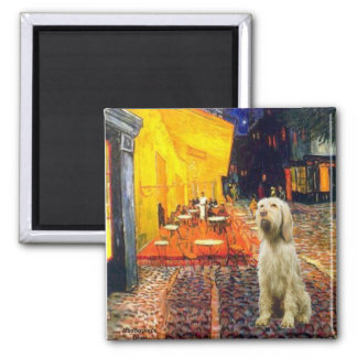 Terrace Cafe - Italian Spinone #5 Square Magnet