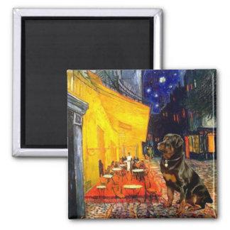 Terrace Cafe - Rottweiler Square Magnet