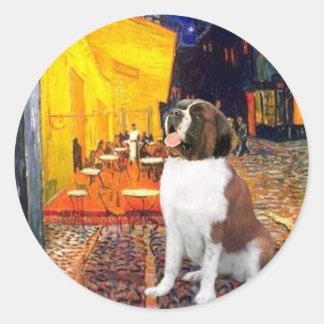 Terrace Cafe - Saint Bernard Round Sticker