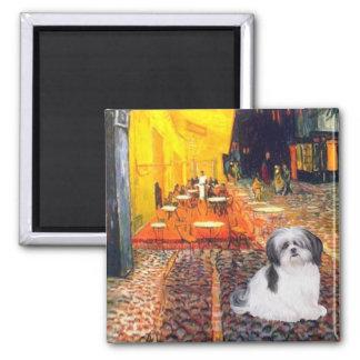 Terrace Cafe - Shih Tzu (A) Square Magnet