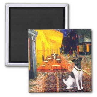 Terrace Cafe - Smooth Fox Terrier Square Magnet