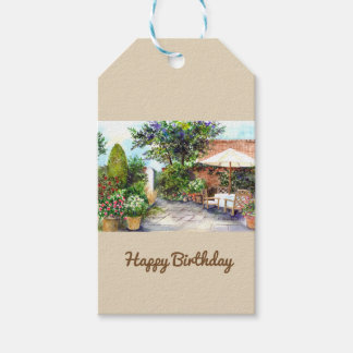 Terrace of The Manor House, York Gift Tags