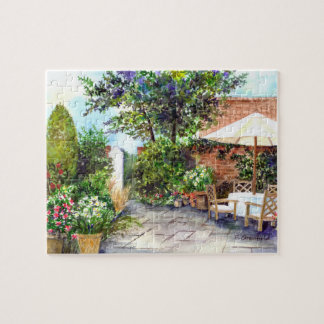 Terrace of The Manor House, York Jigsaw Puzzle