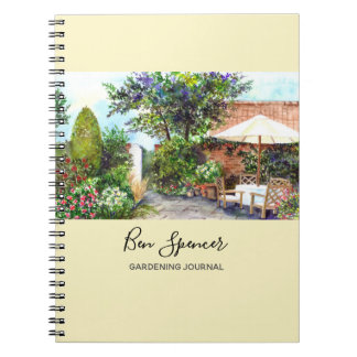 Terrace of The Manor House, York Spiral Notebook